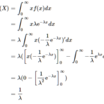 指数分布の期待値・分散の導出(証明)