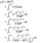 積率母関数を用いたガンマ分布の期待値・分散の導出