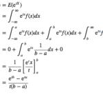 積率母関数を用いた連続一様分布の平均・分散の導出
