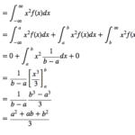 連続一様分布の平均・分散の導出(証明)