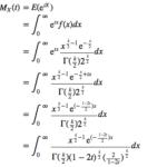 積率母関数を用いたカイ二乗分布の期待値・分散の導出