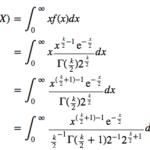 カイ二乗分布の期待値と分散の導出