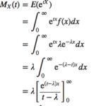 積率母関数を用いた指数分布の期待値・分散の導出