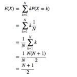 離散一様分布の期待値と分散の導出