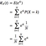 積率母関数を用いた離散一様分布の期待値・分散の導出