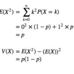ベルヌーイ分布の期待値・分散の証明