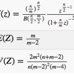 F分布の期待値・分散を確率密度関数を用いて導出