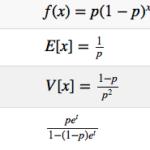 幾何分布の確率密度関数からの期待値と分散の導出