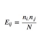 独立性の検定 期待度数の最尤推定量の導出